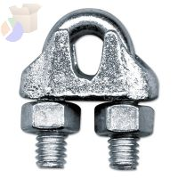 Malleable Wire Rope Clips, 3/8 in, Bright Zinc