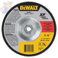 Grinding Wheel, 7 in Dia, 1/4 in Thick, 5/8 in Arbor, 24 Grit Ceramic