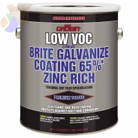Low VOC Brite Galvanize Coating, 1 Gallon Can