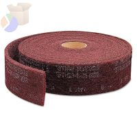 Scotch-Brite Clean and Finish Roll Pads, Very Fine, Maroon