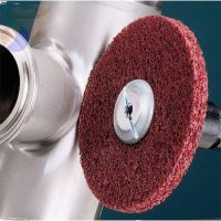 Scotch-Brite Metal Finishing Wheels, 6 X 1 X 1, Medium, 6000 rpm, Aluminum Oxide
