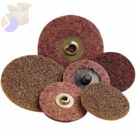 Scotch-Brite Roloc Discs, 2 in, 25,000 rpm, Aluminum Oxide, Brown