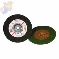 Green Corps Depressed Center Wheel, 7 in Dia, 1/4 in Thick, 7/8 Arbor, 24 Grit