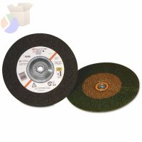 Green Corps Depressed Center Wheel, 4 in Dia, 1/4 in Thick, 24 Grit