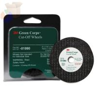 Green Corps Cut-Off Wheel, 3 in Dia, 1/16 in Thick, Ceramic Aluminum Oxide, Five