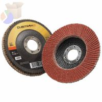 Cubitron II Flap Disc 967A, 4 1/2 in, 80 Grit, 7/8 in Arbor, 13,300 rpm, Type 27