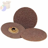 Roloc Discs 361F, Aluminum Oxide, 2 in Dia., P100 Grit, Snap On Mount