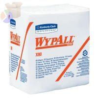 WypAll X80 Towels, 1/4 Fold, Cotton White