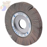 Arbor Hole Flap Wheels, 4 in x 1 in, 40 Grit, 9,500 rpm
