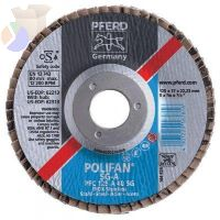 "Type 29 POLIFAN SG Flap Discs, 5"", 40 Grit, 5/8 Arbor, Zirconia COMPACT"
