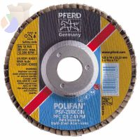 POLIFAN Flap Discs, 6 in, 40 Grit, 5/8 Arbor, 10,200 , Conical