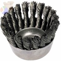 "3-1/2"" KNOT WIRE CUP BRUSH .014 CS WIRE 5/8-11"