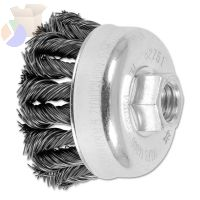 COMBITWIST Knot Wire Cup Brush, 2 3/4 in Dia., .02 in Carbon Steel Wire