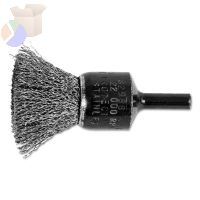 "Standard Duty Crimped End Brushes, Stainless Steel, 20,000 rpm, 3/4"" x 0.01"