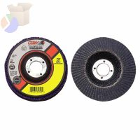 "Flap Discs, Z-Stainless, Regular, 5"", 60 Grit, 7/8 Arbor, 12,200 rpm, T29"