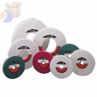 "White Aluminum Oxide Surface Grinding Wheels, T5, 8 X 3/4, 1 1/4"" Arbor, 60, J"