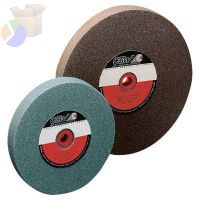 "Bench Wheels, Green Silicon Carbide, Carton Pk, Type 1, 8X1, 1 1/4"" Arbor, 60, I"