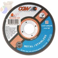 Extra Thin Cut-Off Wheel, Type 1, 7 in Dia, .045 in Thick, 36 Grit Alum. Oxide