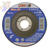 Depressed Center Wheel, 7 in Dia, 1/4 in Thick, 5/8 in Arbor, Hardness Grade R