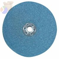 Resin Fibre Discs, Zirconia, 5 in Dia., 24 Grit, Quick Lock
