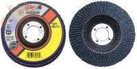 "Flap Discs, Z3 -100% Zirconia, Regular, 6"", 60 Grit, 7/8 Arbor, 10,200 rpm, T27"