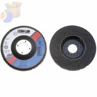Flap Discs, Silicon Carbide, Regular, 4 in, 120 Grit, 5/8 in Arbor, 15,300 rpm
