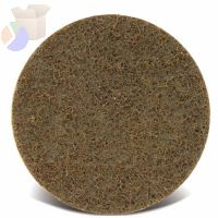 Surface Conditioning Discs, Hook & Loop, 6 in, 7,000 rpm, Gold, Coarse
