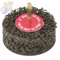EZ Strip Wheels, Non-Woven, 3 in, 10,500 rpm, Silicon Carbide, Black, double