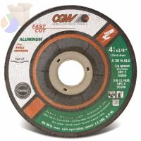 Depressed Center Wheel, Type 27, 5 in Dia, 1/4 in Thick, 5/8 in Arbor, 30 Grit