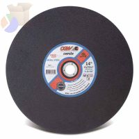 Cut-Off Wheel, Chop saws, 12 in Dia, 3/32 in Thick, 36 Grit Alum. Oxide
