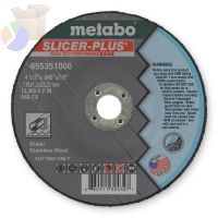 Slicer Plus Cutting Wheel, Type 27, 4 1/2 in Dia, .045 in Thick, 60 Grit