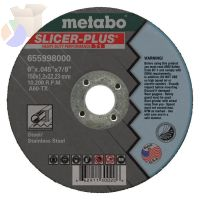 Slicer Plus Cutting Wheel, Type 1, 6 in Dia, .045 in Thick, 60 Grit Alum. Oxide