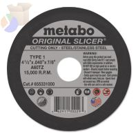Original Slicers, 4 1/2 in, 7/8 in Arbor, 60 Grit, 15,500 rpm