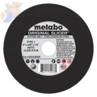 Slicer Cutting Wheel, Type 1, 6 in Dia, .04 in Thick, 60 Grit Aluminum Oxide