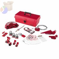 Safety Series Personal Lockout Kits, Valve/Elect., Laminated Steel Padlocks