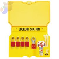 Safety Series Lockout Stations with Key Registration Card, 22in, Unfilled, 10-Lk