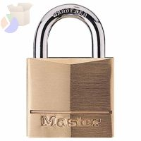 No. 160 Solid Brass Padlocks, 11/32 in Diam., 1 1/8 in L X 1 1/4 in W