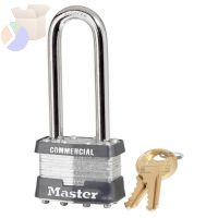 No. 1 Laminated Steel Pin Tumbler Padlocks, 5/16 in Diam., 2 1/2 in L X 3/4 in W