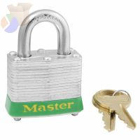 Steel Body Safety Padlocks, 9/32 in Diam., 1 1/2 in L X 5/8 in W, Blue