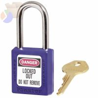 6 PIN BLUE SAFETY LOCKOUT PADLOCK KEYED DIFFER