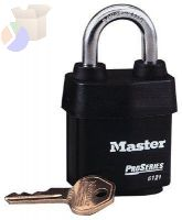 Weather Tough Padlocks, 3/8 in Diam., 2 1/2 in L X 7/8 in W