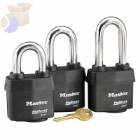 Weather Tough Padlocks, 7/16 in Diam., 1 3/8 in L X 7/8 in W