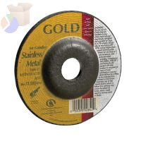 Depressed Center Grinding Wheel, 9 in Dia, 1/4 in Thick, 24 Grit Aluminum Oxide