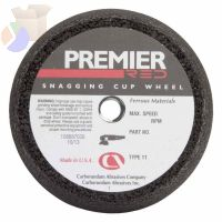 Snagging Cup Wheel, 6 in Dia, 2 in Thick, 16 Grit Zirconia Alumina