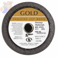 Flaring Cup Wheel, 4 in Dia, 2 in Thick, 16 Grit Alumina Oxide