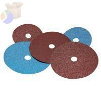 Premier Red Zirconia Alumina Resin Fiber Discs, 7 in Dia., 24 Grit