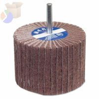 "Interleaf Flap Wheels with Mounted Steel Shank, 2"" x 1 1/2"", 80 Grit, 12,000 RPM"