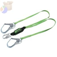 HP Lanyards with SofStop Shock Absorber, 6 ft, Locking Rebar Hooks, 2 Legs