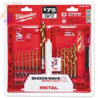TiN SHOCKWAVE Kits, 23 Piece, 1/2 in - 1/16 in Cut Dia.