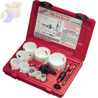 Hole Saw Kits, with Case, 3/4 in - 2 1/2 in Cut Diam.